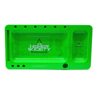 "THS DELUXE ROLLING TRAY GREEN Pack of 1 12"" X 6.5"""