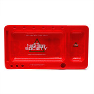 "THS DELUXE ROLLING TRAY RED Pack of 1 12"" X 6.5"""