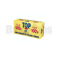 TOP PREMIUM LIGHT FILTERED CIGARETTE TUBES 100MM 200 TUBES UNFLAVORED Pack of 1