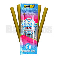 TWISTED HEMP WRAPS 4 PER PACK TROPICAL BREEZE Pack of 1