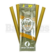 TWISTED HEMP WRAPS 4 PER PACK PLAIN JANE NATURAL Pack of 1