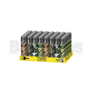"""CLIPPER LIGHTER 3"""" CAMO ASSORTED Pack of 48"""