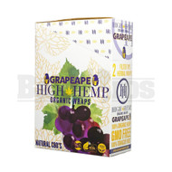 HIGH HEMP ORGANIC WRAPS 2 WRAPS WITH 2 FILTERS GRAPE APE Pack of 25