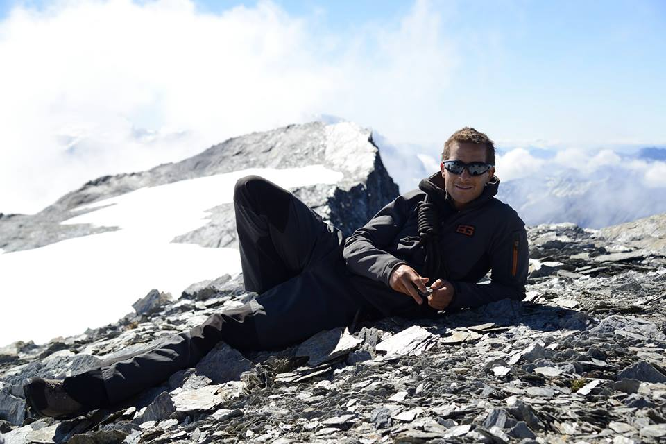 Bear Grylls wearing SOS Expedition sunglasses