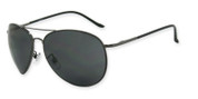 3741 Anchor Sunglasses in shiny gunmetal frame, spring hinge with smoke TAC 1.0mm polarized lens
