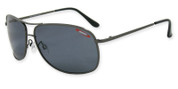 Item 3852 SOS Kona in satin gunmetal with smoke TAC polarized 1.0mm lens