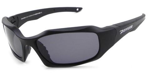 FL7364-1 Trident sunglasses- matte black frame and smoke TAC polarized lens