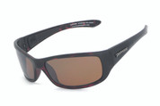 Cutthroat sunglasses-  matte dark tortoise frame and brown TAC polarized w. flash mirror lens