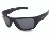 LP568-1 Hard Target Sunglasses - matt black frame with TAC polarized smoke len