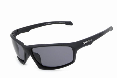 Trigger sunglasses with matt black frame with TAC polarized smoke lens