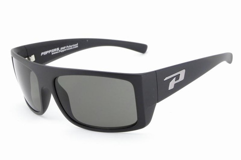 Man-O-War matt black frame with superlative injected polycarbonate green polarized lens with flash mirror lens