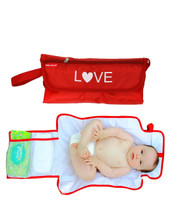 love baby nappy changing bag, with baby model