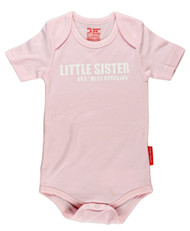 Lil Sister Miss Behaving | baby onesie pink