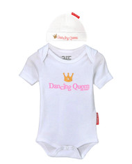 Dancing Queen 2 piece newborn baby girl gift set.