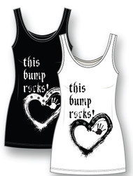 This bump rocks maternity t-shirt, black.