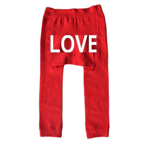 Love red baby leggings