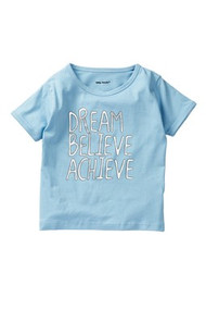 Dream, Believe, Achieve | girl blue silver s/s t-shirt