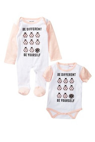 Be yourself everyone else is taken | baby girls lady bug 2 piece onesie footie set