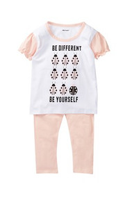 Be yourself everyone else is taken | toddler girls lady bug 2 piece ruffle tee & legging set