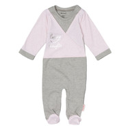 happy thoughts ballet pink and grey infant footie