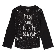I'm Small but Shine so Bright | toddler and kids l/s tee, black, white
