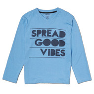 Spread Good Vibes | infant, toddler and kids l/s tee | surf blue, navy blue