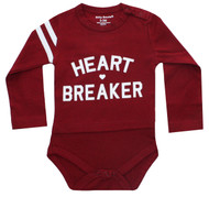 Heart Breaker Infant Onesie red and white