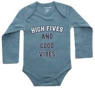 High Five Infant Onesie mid blue