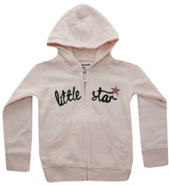 Front view of Little star infant, toddler and girls hoody