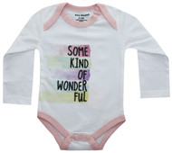 Some Kind Of Wonderful infant onesie white and pink