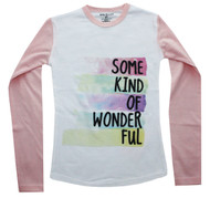 Some Kind Of Wonderful kids l/s tee white and pink