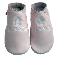 rock star baby pink ballet slippers
