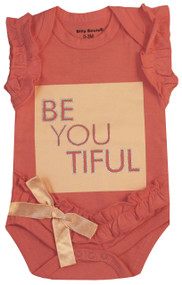 BeYOUtiful, peach girls bodysuit