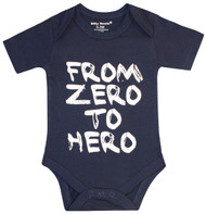 From Zero to Hero, blue and white bodysuit