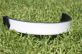 White Patent Leather Flat Band Browband