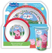 Peppa Pig 3 PC Tumbler, Bowl & Plate Set