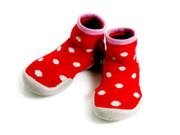 Collegien Slipper Socks Paris | Red Polka Dots