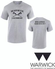 Warwick Uni Lacrosse Men's 2016 Squad Tshirt