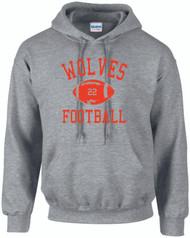 Warwick Uni American Football Wolves Football design hoody