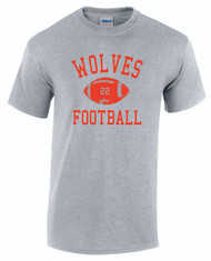Warwick Uni American Football Wolves Football design T-Shirt
