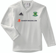 Overstone Park Cricket Club Long Sleeve Cream Junior Sweater