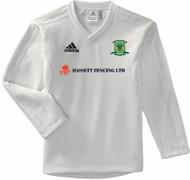 Overstone Park Cricket Club Long Sleeve Cream Junior Sweater