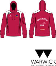 Warwick Uni Mixed Netball Mens Red Hoody