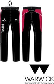 Warwick Uni Futsal Mens Track Pant with initials