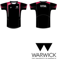 Warwick Uni Futsal Club Mens Training Tee with initials