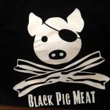 black pig hoodie (pig on the back)