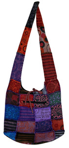 "H8-7  -  Groovy Stitch Bag - Assorted Colors 14"" x 13"""