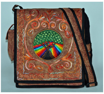 best selling purse with tree of life embroidery
