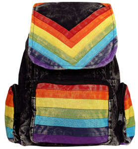 Rainbow colored Spectrum Back Pack - 3 pockets