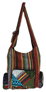 Large 3 Pocket bag with typical Bohemian patchwork